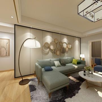 桃园小区128平方三居室日式风格效果图