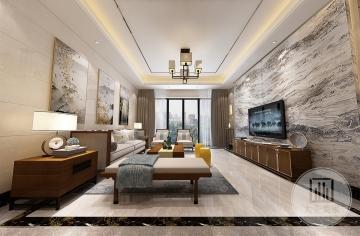 香榭里330m²别墅新中式风格装修案例