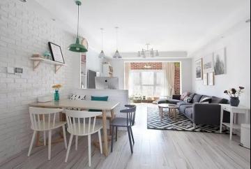 110平三室北欧风格装修案例