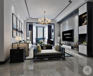 金地城南艺境126m²平层新中式风格装修