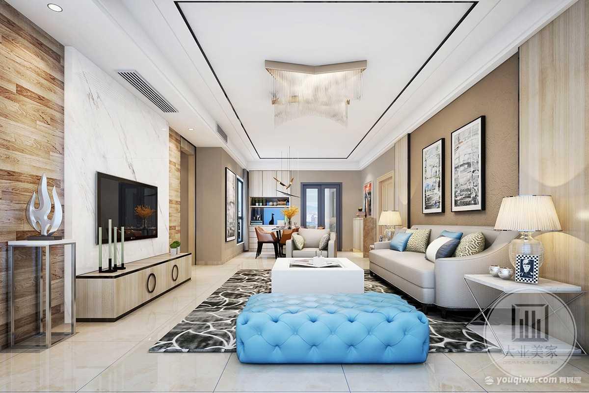 新鸿基珑汇175m²平层现代简约风格装修