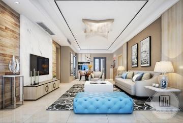 新鸿基珑汇175m2平层现代简约风格装修案例