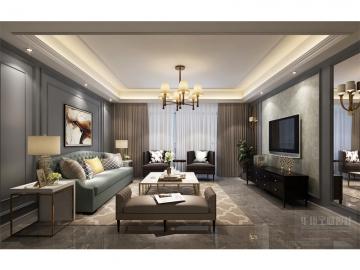 90平三室简欧风格装修案例