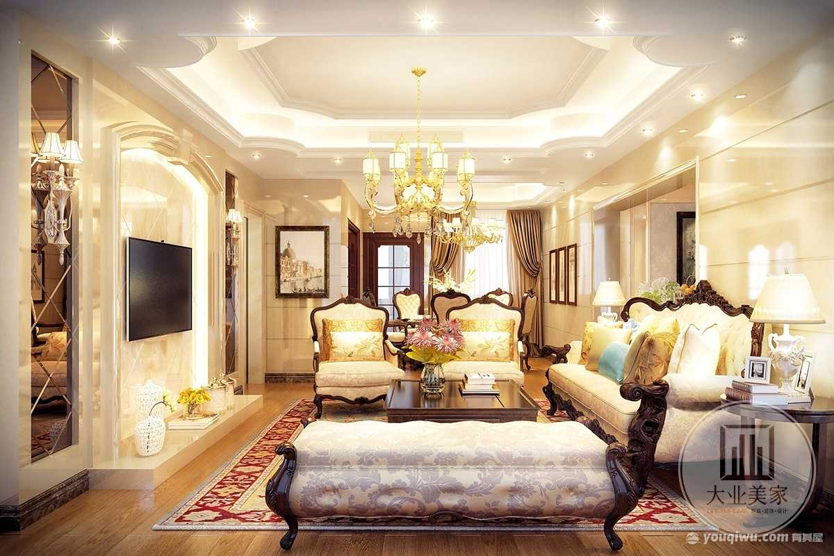 华讯大宅136m²平层欧式风格装修
