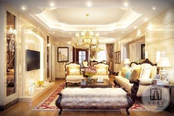 华讯大宅136m²平层欧式风格装修案例
