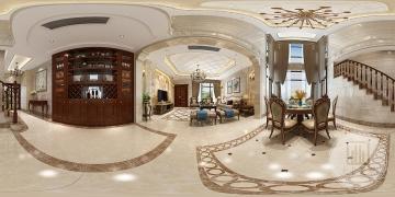 城南艺境165m²别墅欧式风格装修案例