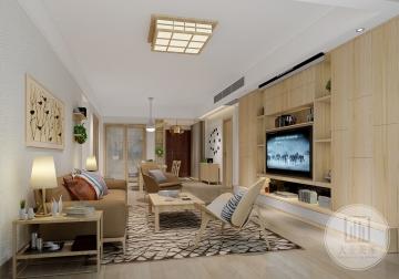 鼎峰尚境135m²平层日式风格装修案例