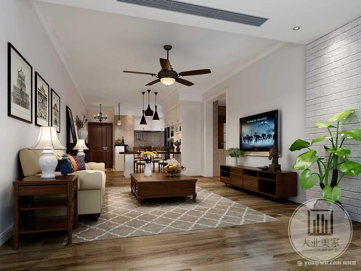 鼎峰尚境125m²平层现代美式风格装修案例