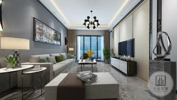 鼎峰尚境98m²平层后现代风格装修案例