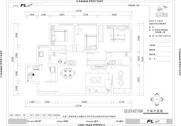 保利未來城113平米兩居室現代簡約風格效果圖