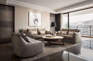 幸福家园126平米三居室日式风格效果图
