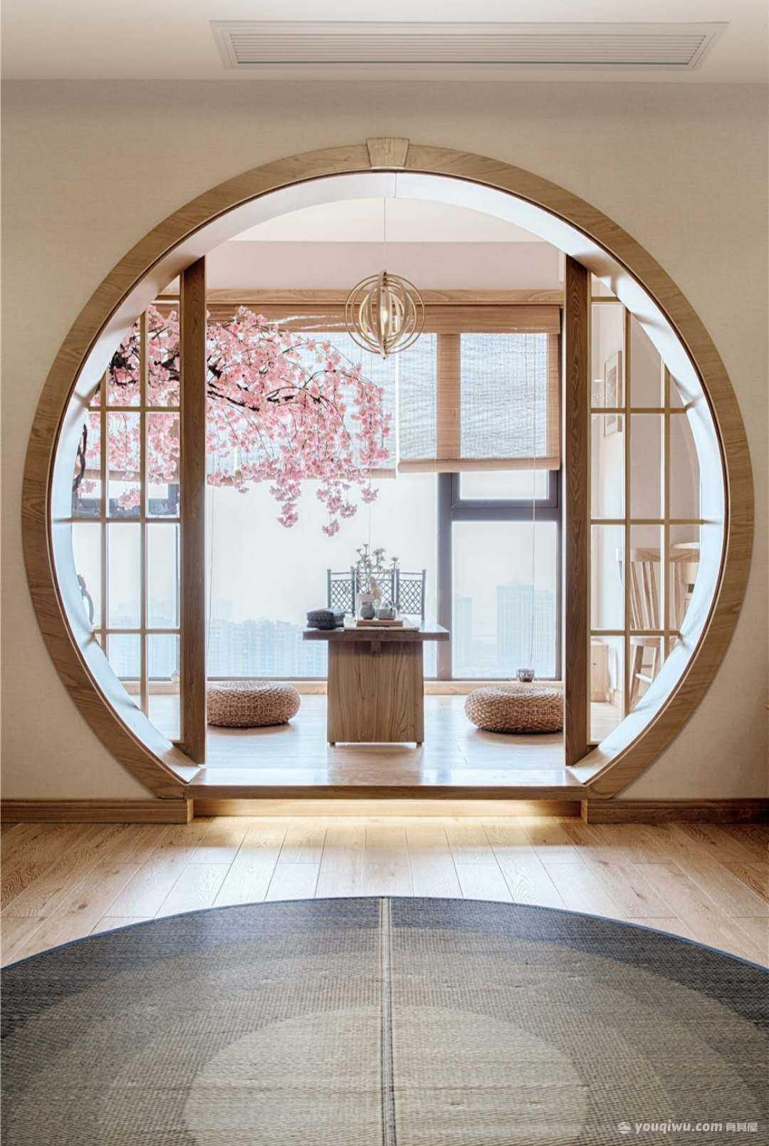 《初夏》148平三室日式风格装修案例