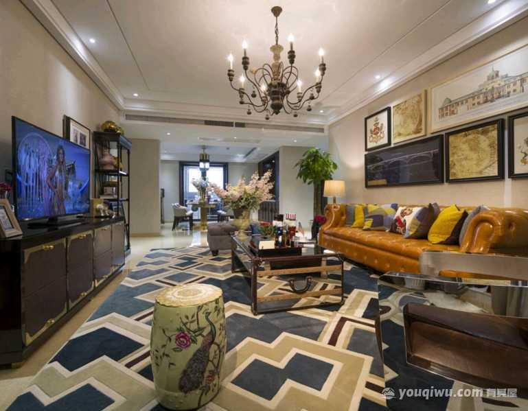 110平三室美式风格装修案例