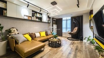 瑞和园85平三室现代风格装修案例