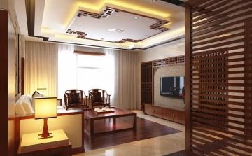 中海珑湾105平三室中式风格装修案例