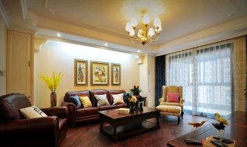 160平四室美式风格装 ...