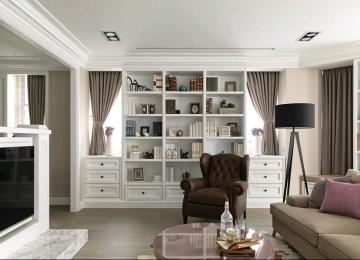 120平三室美式风格装 ...