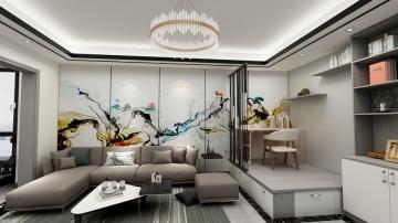 東湖花園三室現代簡約風格裝修案例