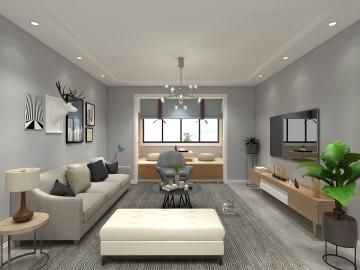 143平四室现代风格装 ...