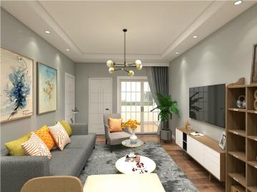 88平米三室现代风格 ...