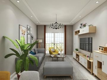 117平三室北欧风格装 ...