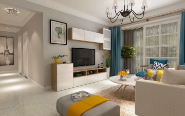 95平三室簡約風格裝修案例
