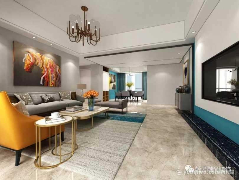 180平四室現代簡約風格裝修案例