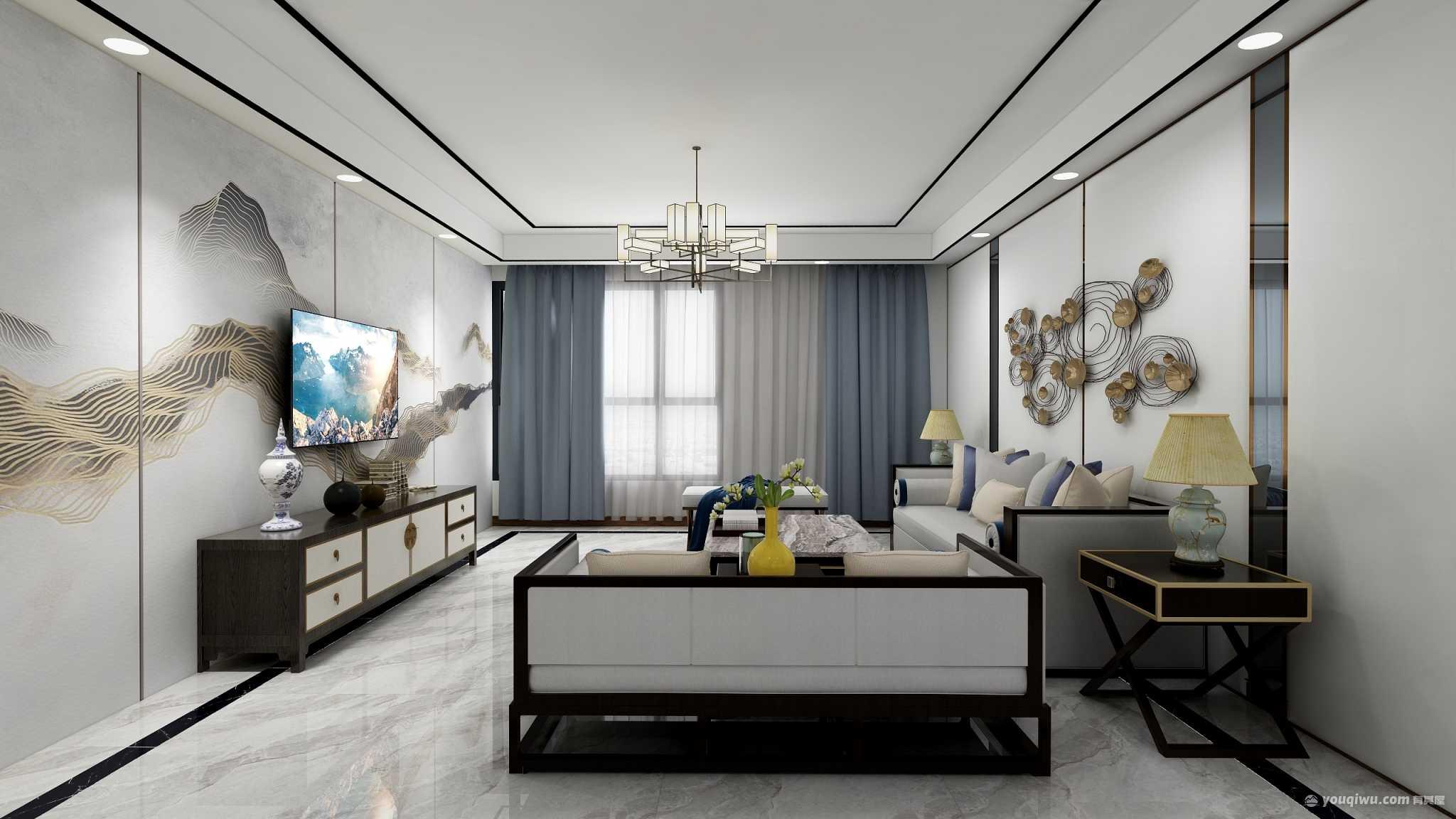 176平四室新中式風格裝修案例