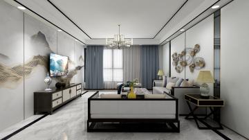 176平四室新中式风格装修案例