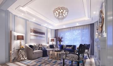 138平三室欧式风格装 ...