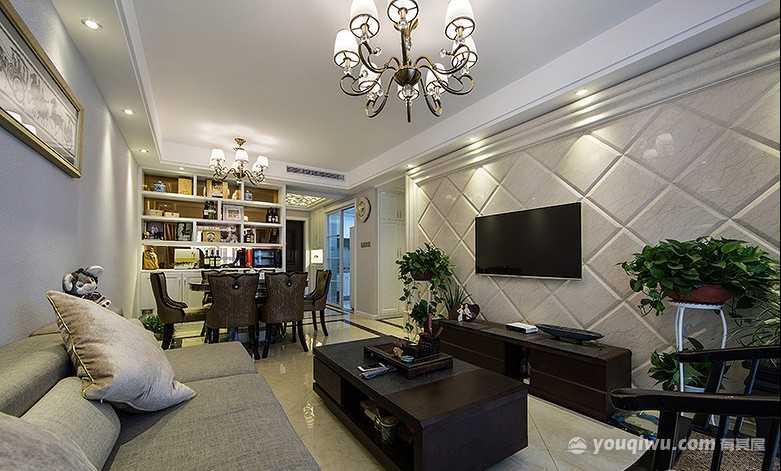 120平三室美式风格装修案例