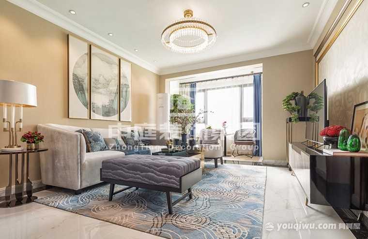 南宁恒大名都112平三室新中式风格装修案例