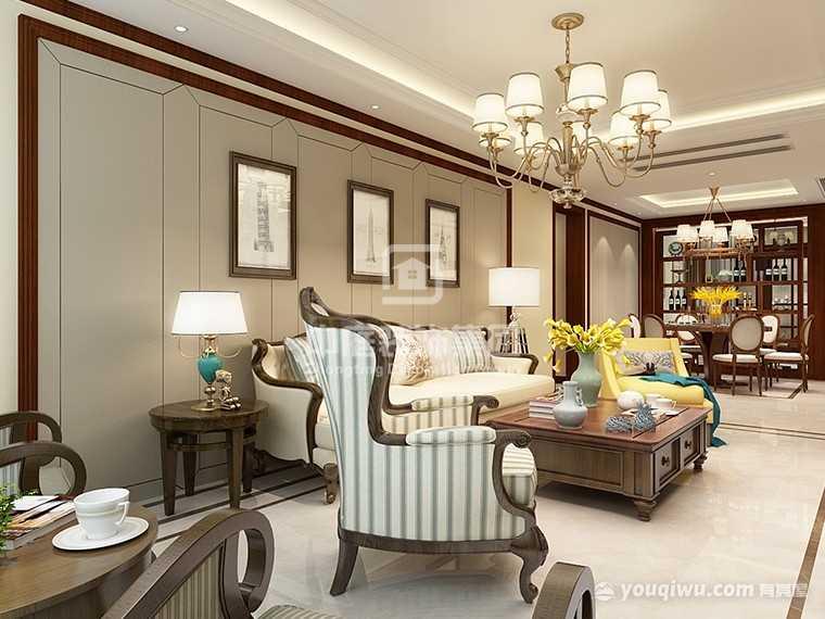 碧桂园·天玺湾123平四室新中式风格装修案例