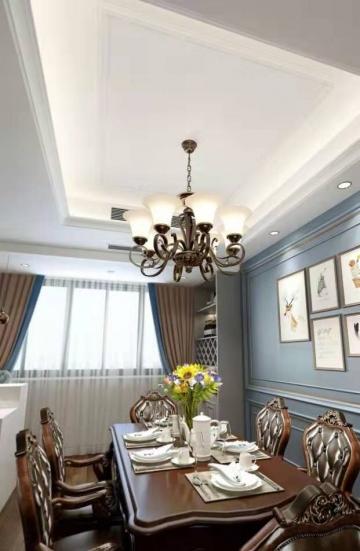 翡翠华府129平米三居室欧式新房装修效果图