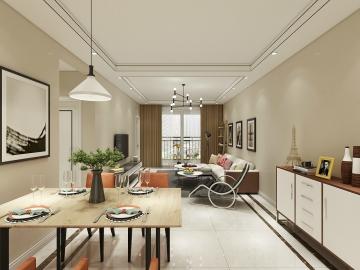 117平米三室現代風格裝修案例