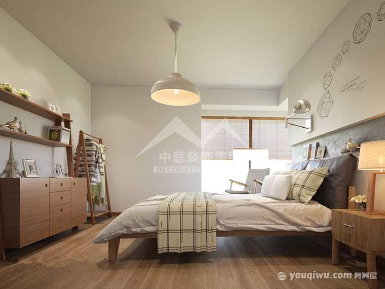 金悦澜湾67平二�室日式风格装修案例