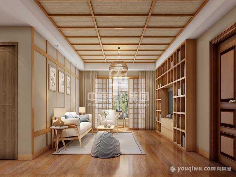 宝能广场110平三室日式风格装修案例
