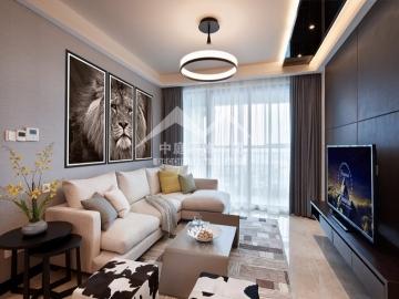 大唐天城92平三室现代简约风格装修案例