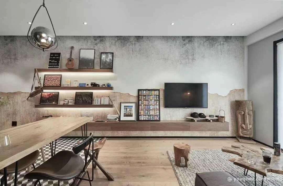 140平三室混搭风格装修案例