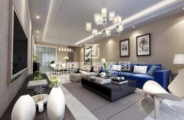 翰林新城90平三室现代简约风格装修案例