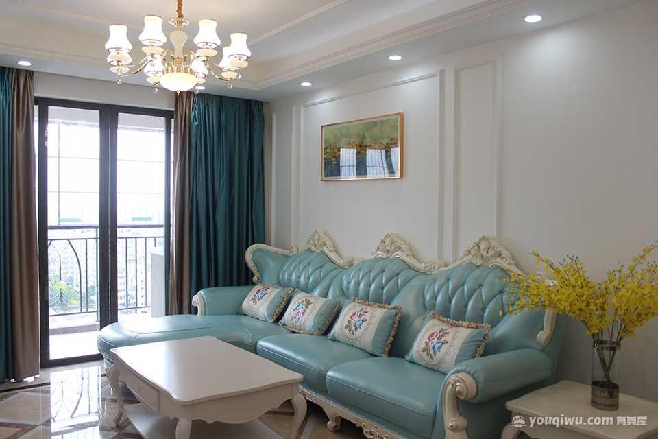 佛山禅城 珠江罗马新都90平三室简欧风格装修案例