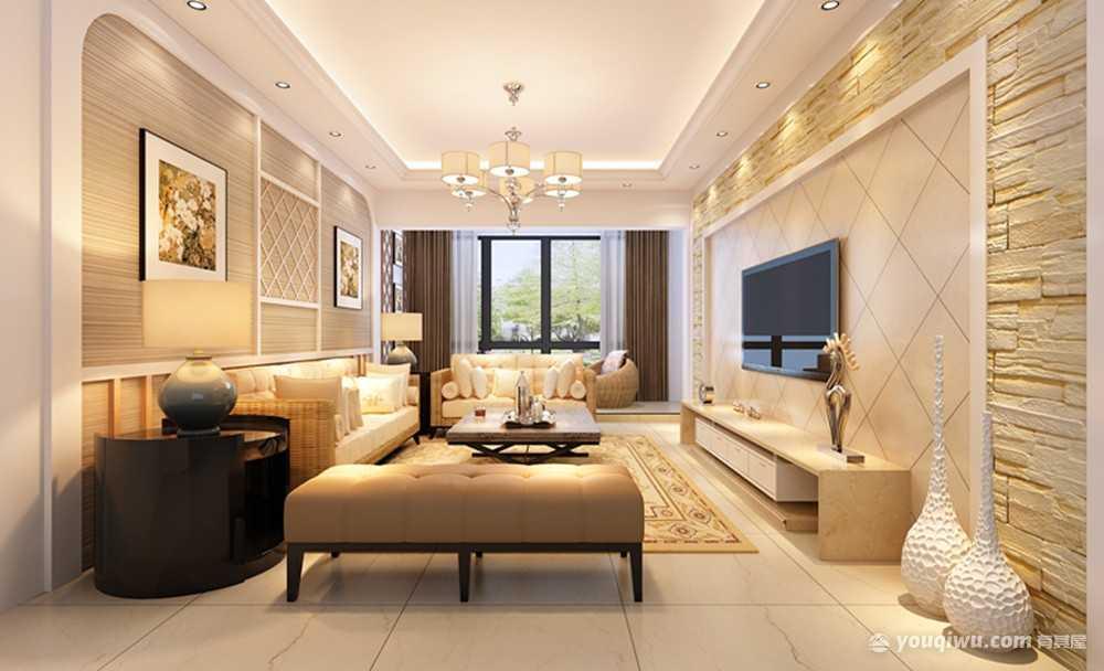 幸福时光89平三室现代简约风格装修效果图