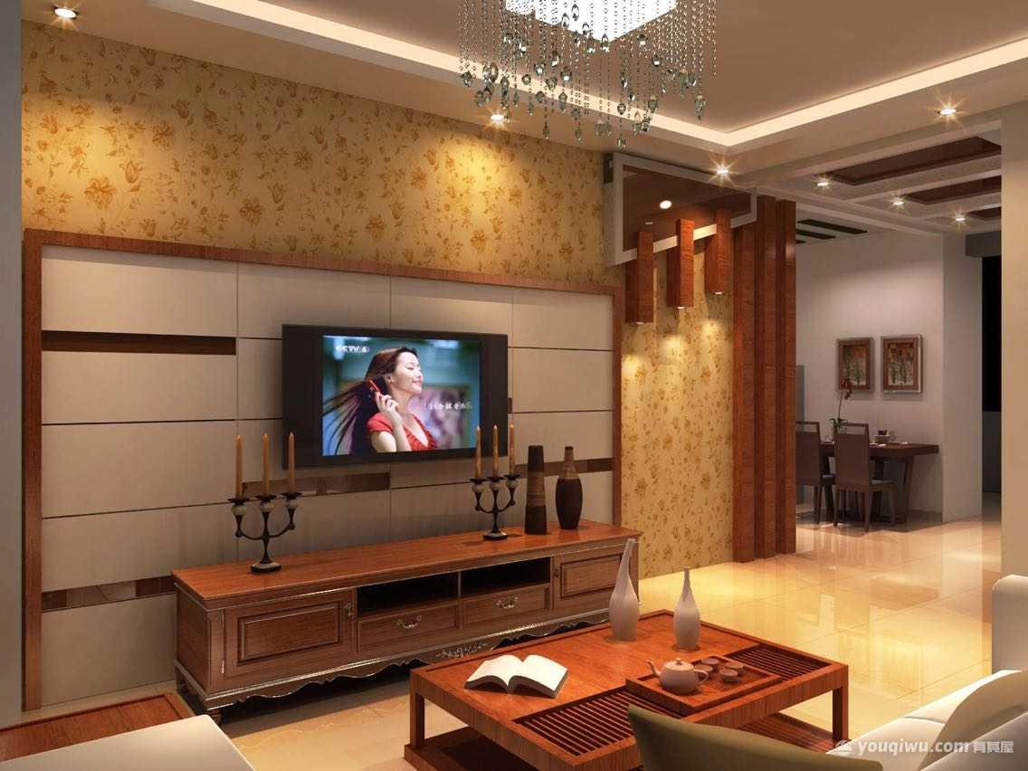 合一中央城二室现代风格装修效果图