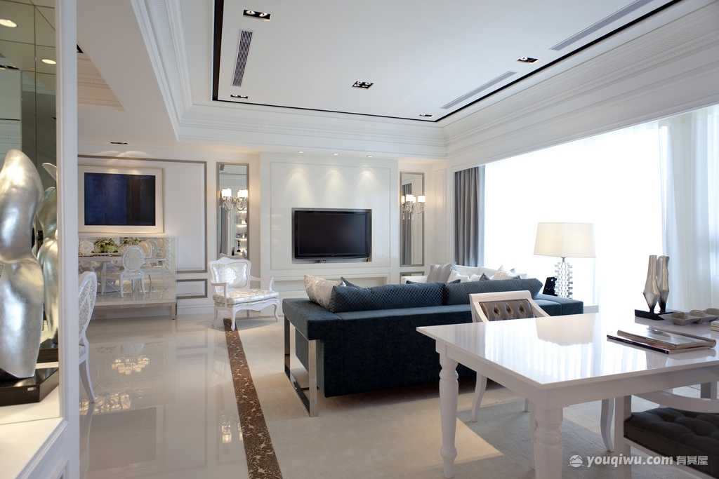世茂大观108平三室欧式风格装修效果图
