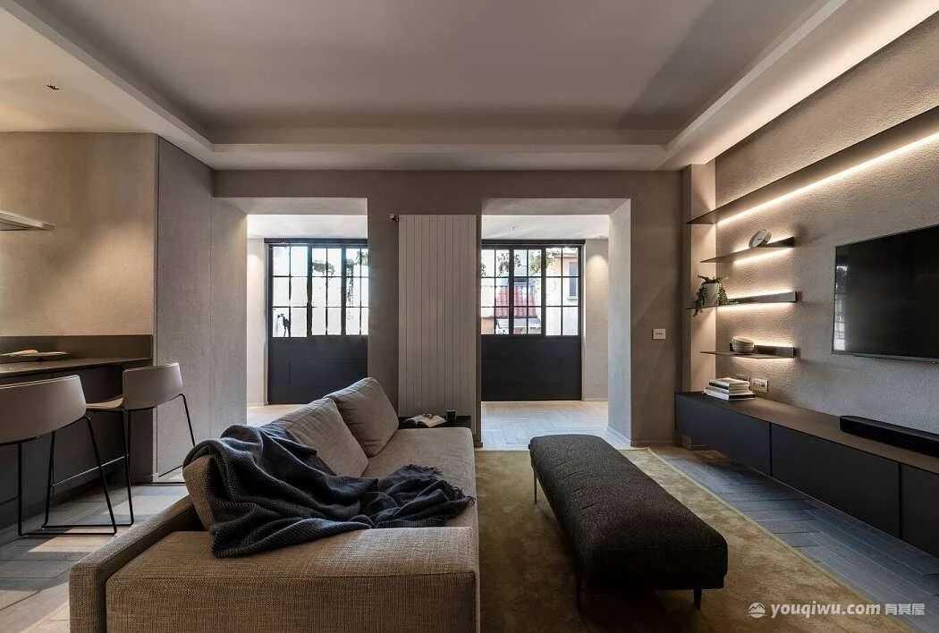 现代风格三居室,历史与现代的平衡