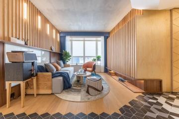 56㎡小户型两室一厅旧房改造