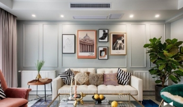 美式轻奢风格,淡雅闲适的家居空间