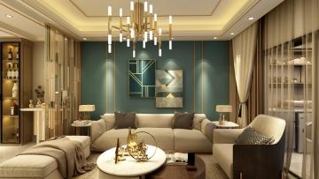87平方欧式风格二居室造价12万