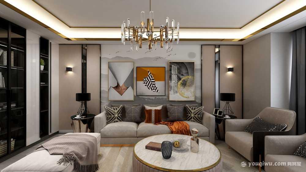 96平方现代风格三居室造价14万