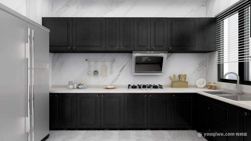 90平方中式风格二居室造价13万
